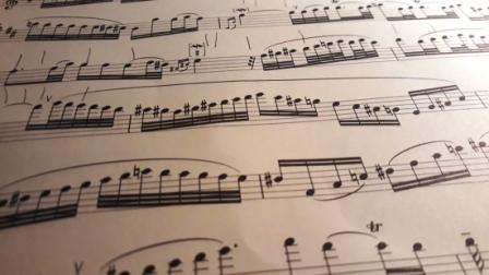 Notenschrift dat eruit ziet als een zwerm dansende mugjes