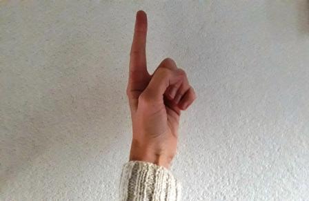 Opgestoken wijsvinger: ik ook!