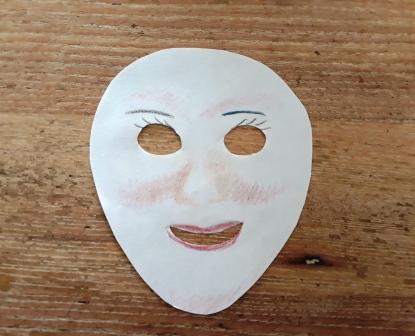 Een masker van papier